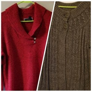 Sweaters - TWO 1x Sweaters